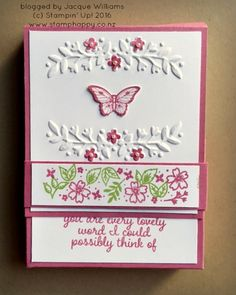 stampin up love & affection box card set