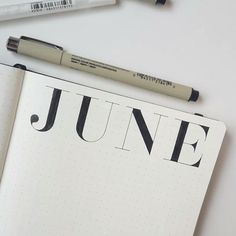 Whose Bullet Journal is ready for June? I know mine is. Have a great weekend everybody! Posted slightly slower version on my 'Stories' and…
