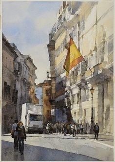Piazza di Spagna, Roma, Italy  #watercolor  #urban  #sketch  - Chien Chung Wei