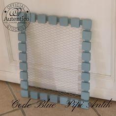 Code Blue opslagstavle med hønsetråd Autentico