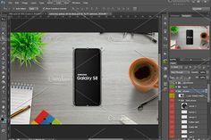Samsung Galaxy S8 mockup by RSplaneta on @creativemarket