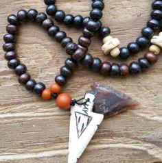 Path of the Arrow, arrow mala, arrow prayer beads, arrow rosary, pagan prayer beads, pagan mala, pagan rosary, wicca prayer beads, wicca by MagickAlive on Etsy