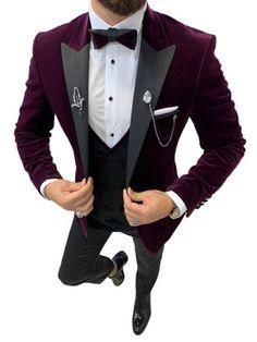 Slim Fit Tuxedo, Tuxedo Suit, Tuxedo For Men, Mens Fashion Suits, Mens Suits, Groom Suits, Groom Attire, Groomsmen, Party Suits