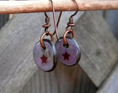 pottery bead earrings