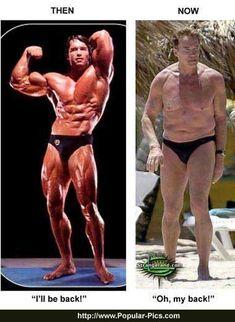 Arnold Schwarzenegger ... Now & Then