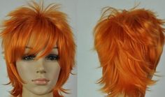 LMRAJF42 sexy orange short lolita princess wig hair cosplay wigs for women #Unbranded