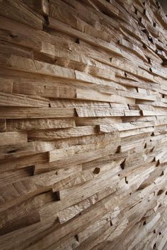 Wooden 3D Wall Panel WALLS - Bruno Parquet