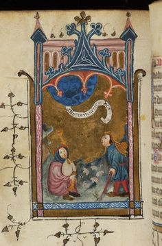 Book of Hours, MS M.314 fol. 73v - Belgium, possibly Tournai, end of the 14th century - Shepherds: Annunciation