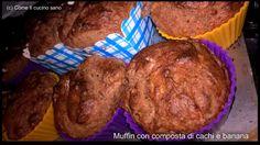 Muffin+con+composta+di+cachi+e+banana Oat Muffins, Breakfast, Food, Oatmeal Raisin Muffins, Morning Coffee, Eten, Meals, Morning Breakfast, Diet