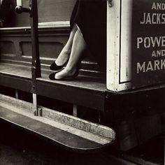 lauramcphee:  Cable Car, San Francisco, 1956 (Dorothea Lange)