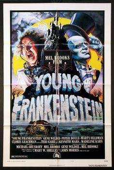 YOUNG FRANKENSTEIN  (1974)  Original one sheet size, 27x41 movie poster.  Style B.