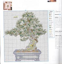 Bonsai free cross stitch pattern