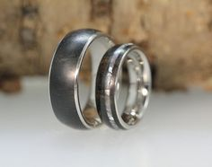 Wood Rings  Ebony Wood with Mother of Pearl by jewelrybyjohan, $659.00