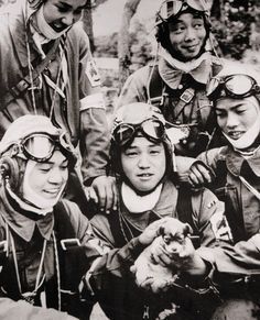 May Yukio Araki, seventeen (holding the puppy), becomes the youngest Kamikaze pilot to die in World War II. He loses his life in a suicide attack on U. ships near Okinawa. Okinawa, Kagoshima, Kamikaze Pilots, Regard Intense, Samurai, Ww2 Photos, Iwo Jima, Nagasaki, Pearl Harbor