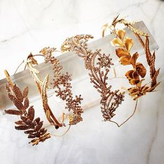 Gorgeous, delicate, intricately designed headpieces from Jennifer Berh. Good god, GIMME.