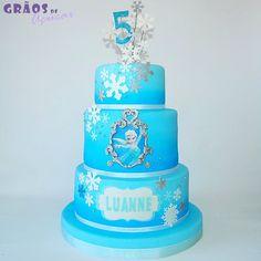 Frozen - Moldura - Grãos de Açúcar - Bolos decorados - Cake Design