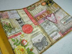 Annette's Creative Journey: Art Journal Fun with the Remnant Rub Resist Technique