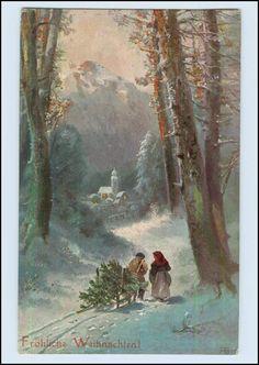 P3C55/ Weihnachten schöne AK 1906 sign: FB   eBay