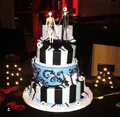 Simply meant to be Tim Burton cake themed after Corpse Bride