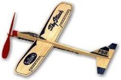 Lot Of 2 Sky Streak Glider Balsa Wood Guillows Plane Rubber Band Favor Propeller