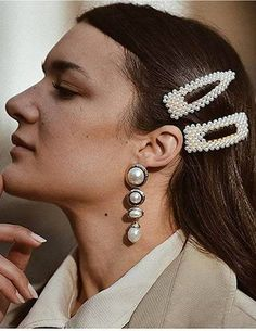 2 Pieces Women/'s Headwear Headdress Styling Jewelry Hair Clip Circle