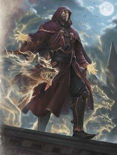 hair inspiration male Magical fantasy character and wolves - Fantasy Warrior, Fantasy Male, Fantasy Rpg, Medieval Fantasy, Fantasy Wizard, Dragon Warrior, Dark Fantasy Art, Fantasy Artwork, Male Character