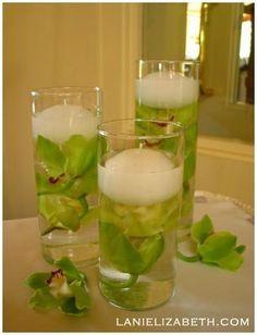Idées de Décoration de Mariage - Vert & Blanc
