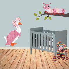 Babykamer behangfiguren