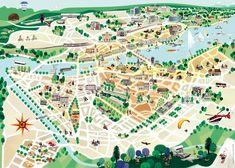 Pocket map for Geneva tourist offices