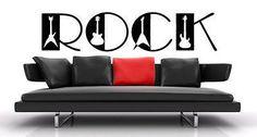 Rock'n'Roll decal Rock'n'Roll sticker R'n'R Guitar decal Wall Art Stickers tr270
