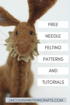 Needle felting kits and ultimate guide to needle felting for beginners - - Easy needle felting tutorials, patterns and videos from Lincolnshire Fenn Crafts. Wet Felting, Needle Felting Kits, Needle Felting Tutorials, Needle Felted Animals, Christmas Needle Felting, Beginner Felting, The Animals, Felt Animals, Felted Wool Crafts