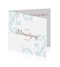 Mooie uitnodiging maken voor een jubileum of huwelijk 25 jaar. Een prachtige kaart met een klassieke uitstraling.
