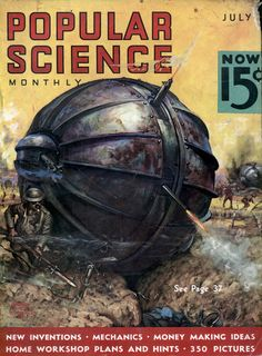 Rolling tank proposed for use by the US army after the end of the First World War. Famously appear on the cover of Popular Science.