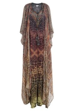Round Neck Tourmaline Kaftan By CAMILLA @ http://www.boutique1.com/