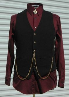 M Mens Steampunk Vest Master of the Changing Universe by OLearStudios - Steampunk Steampunk Clothing - Smoked Glass Goggles