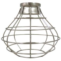 Portfolio 8.38-in H 8.38-in W Brushed Nickel Industrial Cage Pendant Light Shade