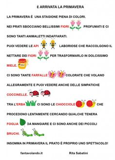 Learning Italian, Spring Activities, Geography, Spring, Speech Language Therapy, Autism, Learn Italian Language