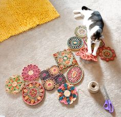 DIY Straw Trivet Collage