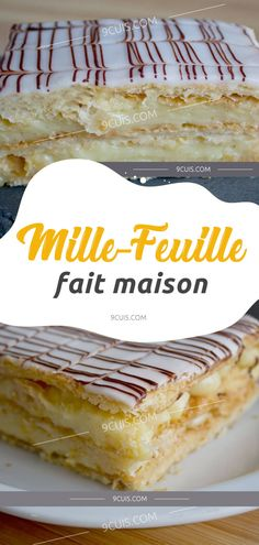 Mille-feuille fait maison French Food, Pavlova, Gluten Free Recipes, Vanilla Cake, Nutella, Sweet Recipes, Biscuits, Bakery, Food And Drink