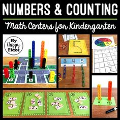 Kindergarten Math Centers - Numbers and Counting Kindergarten Centers, Preschool Math, Teaching Math, Math Centers, Math Skills, Math Lessons, 1st Grade Math, Grade 1, Teen Numbers