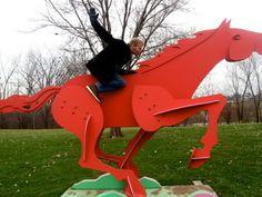 Skokie Channel sculpture park,  Illinois.
