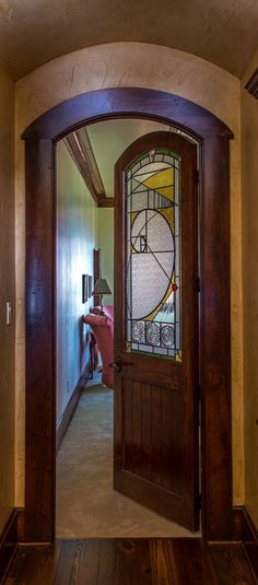 """Known as the """"Golden Mean"""" door, this is a well-known piece from Stanton Studios. Designed and fabricated by Stanton Studios"""