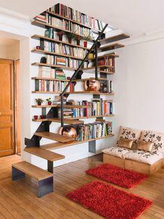Escadas-estante ou Estantes-escada?