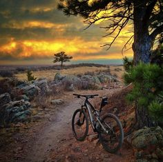"Photo submitted by Michael Douglas, ""Stopping to catch my breath. This view never gets old."" Mountain Biking MTB Bike"