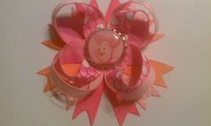 Piglet Hair Bow with Clip Disney Winnie the by TwoLilOwlsBowtique, $4.00