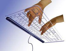 Transparent keyboard  http://www.roehampton-online.com/?ref=4231900