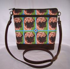 A personal favorite from my Etsy shop https://www.etsy.com/listing/511348445/pug-purse-cross-body-bag