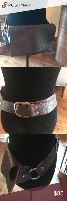 Leather Fanny Pack New never worn Hand made BrownLeather Fanny Pack with silver buckle & hardware. Perfect for festivals, concerts or just on the go. One size fits most. Inside autographed by designer. Bags