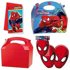 Spiderman #tableware - / #masks / party invitations / party meal #boxes,  View more on the LINK: http://www.zeppy.io/product/gb/2/322231019311/
