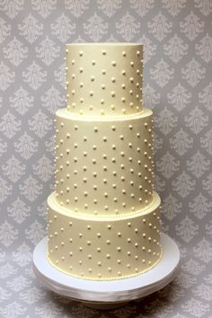 We love the impact swiss dots can make on a cake Swiss Dot, Custom Cakes, Cake Ideas, Icing, Wedding Cakes, Dots, Urban, Canning, Creative